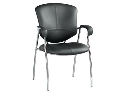 Karizma Black Leather Guest Chair