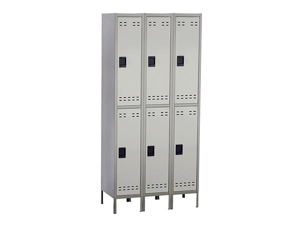 Rent the Double Tier Locker - Bank of 3