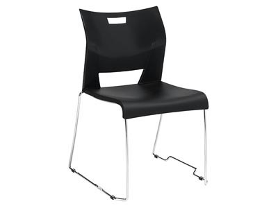 Rent the Duet Stack Chair - Black