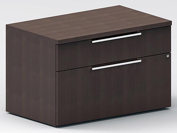 Rent the STAKS Box File Cabinet, Steel Gray Oak