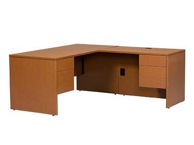 Rent the Halton Junior Executive Right Hand L-Shaped Desk
