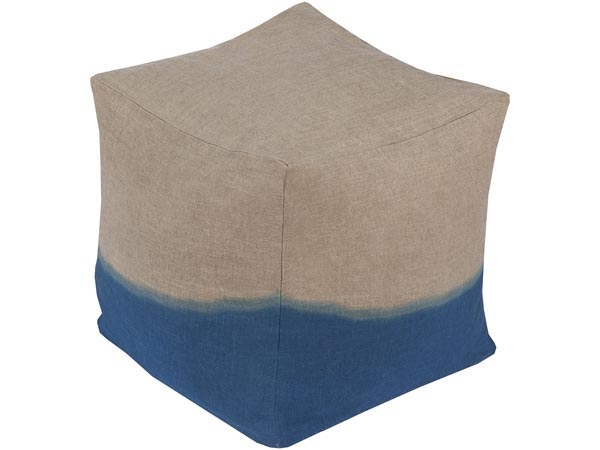 Rent the Dip Dyed Ottoman - Blue