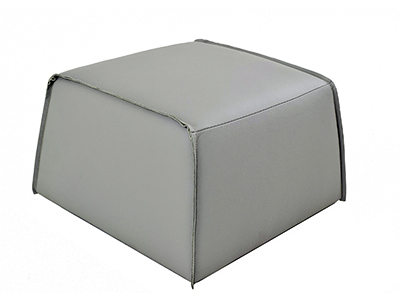 Rent the Hardy Leather Ottoman