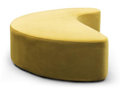 Rent the Intersect Yellow Ottoman
