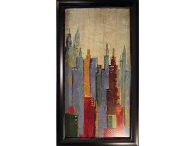 Rent the Towerscape I Framed Artwork