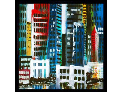 Rent the City II Framed Artwork