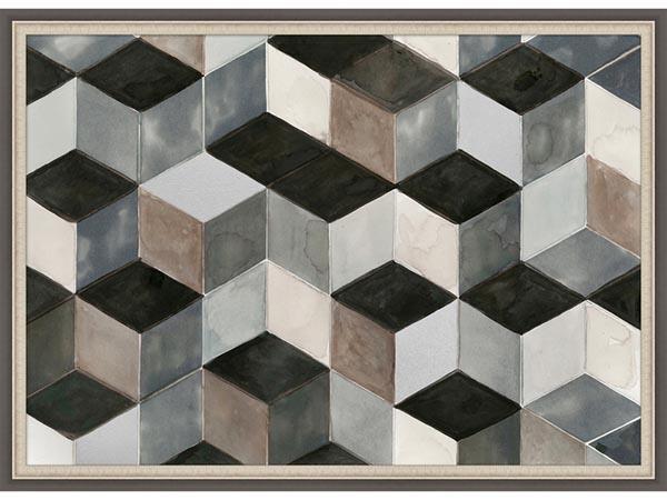 Rent the Hexagon Shuffle Framed Artwork
