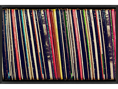 Rent the Record Collection Framed Artwork