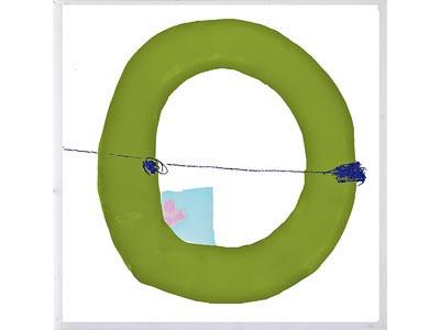 Rent the Green Circle Framed Artwork