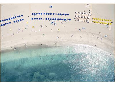 Rent the Aerial Shore Framed Artwork