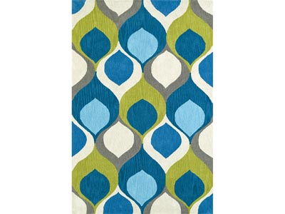 Rent the Aloft Teal Area Rug