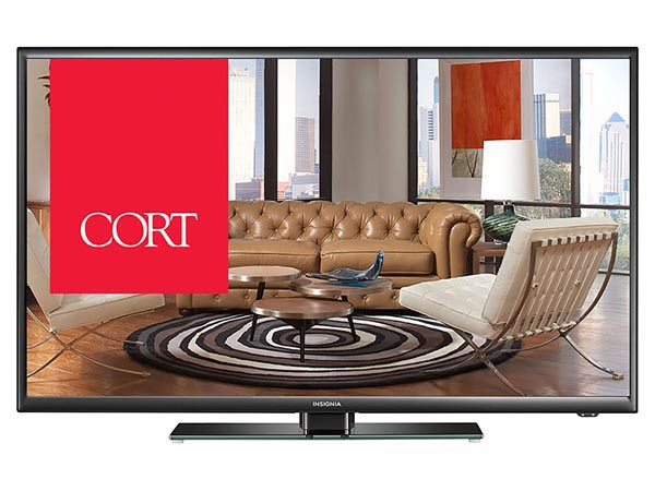 "Rent the 40"" LED TV"