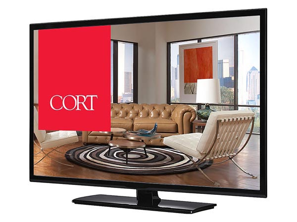 "Rent the 48"" LED TV"