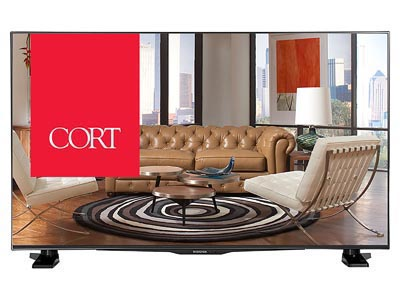 "Rent the 43"" SMART LED/HDTV ROKU"
