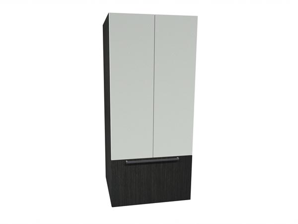 Rent the STAKS 2-Door Tall Cabinet, White and Steel Gray Oak