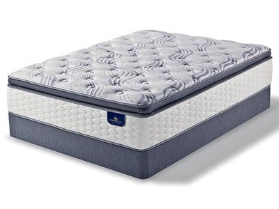 Lacona Super Pillow Top Mattress & Boxspring Set, CA King