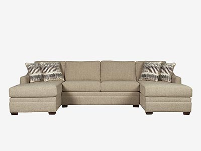 Rent the Ballard Loveseat Sectional Sofa with optional Ottoman