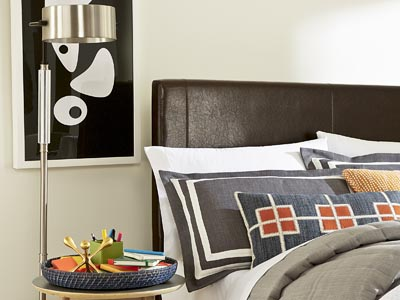 Rent the Copley Brown Queen Headboard