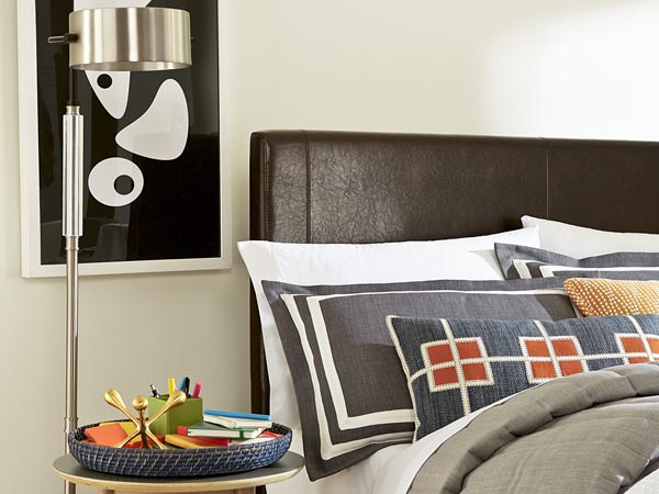 Rent the Copley Brown Twin Headboard