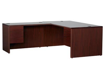10700 Mahogany Executive Left Hand Desk with Return