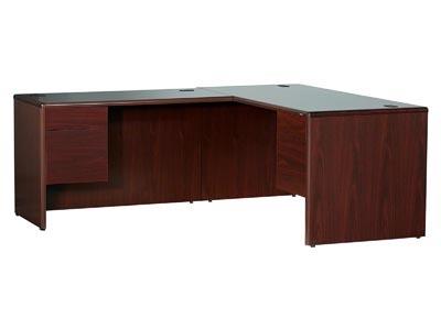 10700 Mahogany Jr. Executive Left Hand Desk with Return