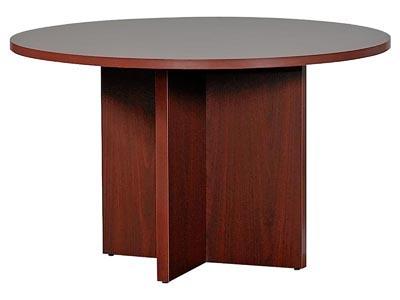 "10700 Mahogany 48"" Round Conference Table"