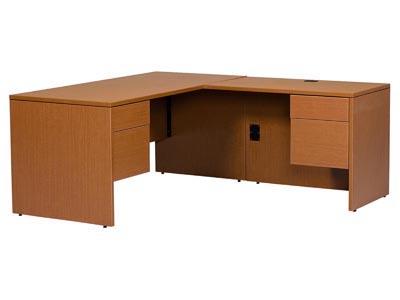 Halton Jr. Executive L Shaped Desk with Right Return
