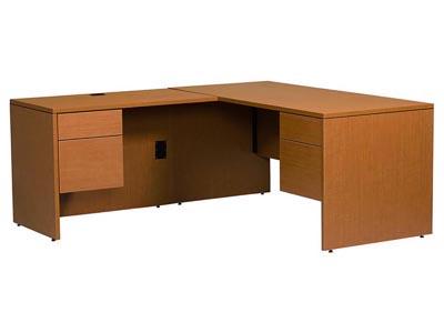 Halton Jr. Executive L Shaped Desk with Left Return