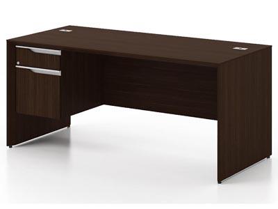 NEX Dark Chocolate Right L Shaped Jr. Executive Desk