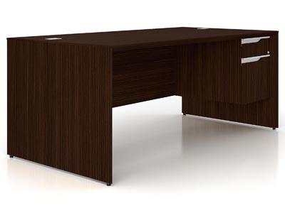 NEX Dark Chocolate Left L Shaped Executive Desk