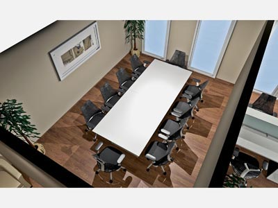 Quorum 10' Conference Table - White
