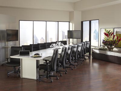 Quorum 20' Conference Table - White
