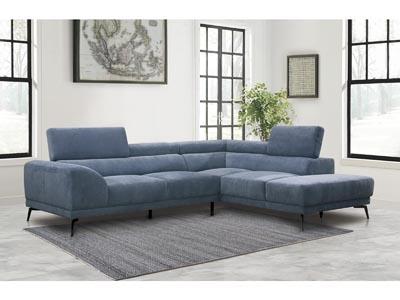 Graceland Blue 2PC Sectional Sofa