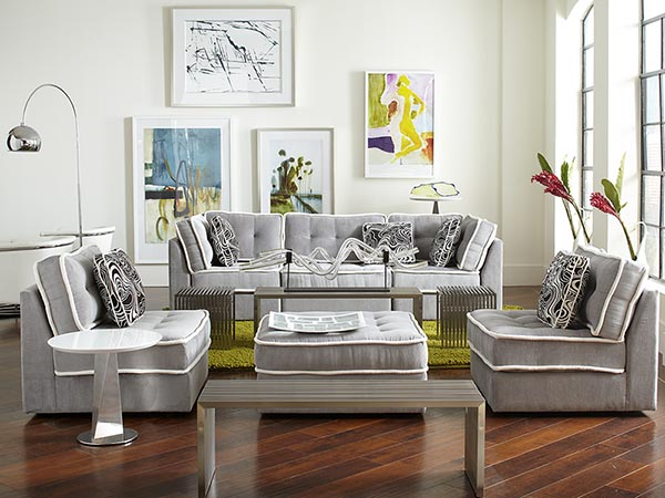 Rent the Lounge Armless Living Room Set  CORT Furniture Rental