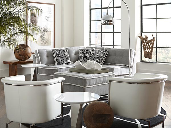 Rent the Lounge Armless Sofa with Storage Ottoman