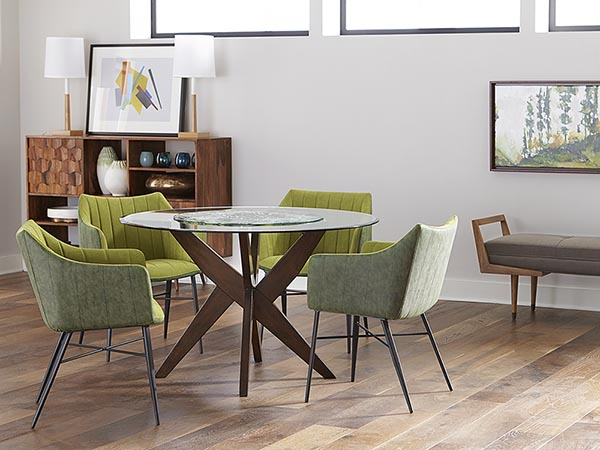 Rent the Simpson Round Dining Table
