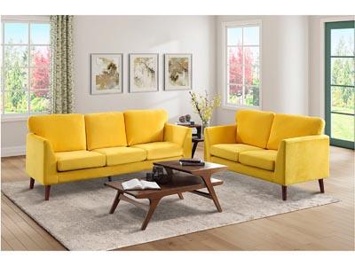 Tolley Yellow 2 PC Sofa & Loveseat Set