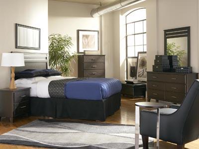 Dakota Skyline 4 PC Queen Bedroom Set with 2 Nightstands