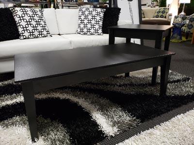 Noir 2 PC Coffee & End Table Set