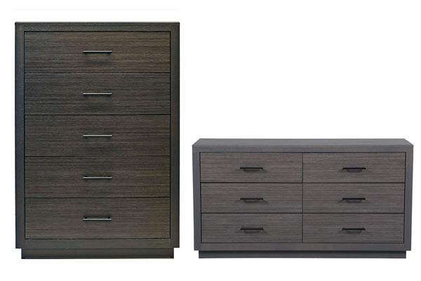 Rent the Dorian Nightstand & Dresser with Mirror Set