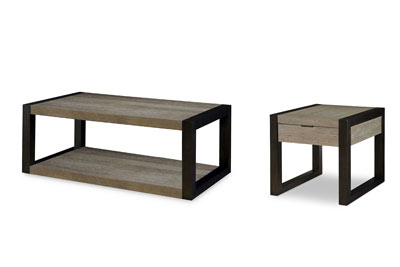 Helix 2 PC Coffee & End Table Set