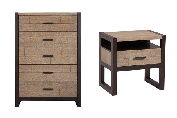 Rent the Helix Nightstand & Chest of Drawers Set