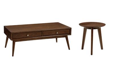 Hendrick Dark 2 PC Coffee & Tri-Pod Side Table Set