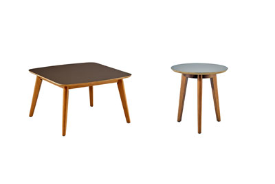 Hendrick 2 PC  Coffee & Gray End Table Set