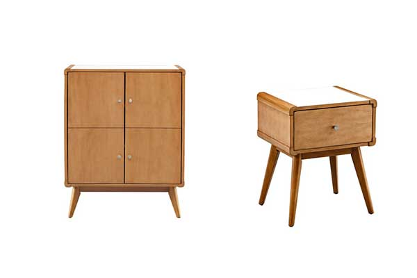 Rent the Hendrick 2-Door Chest & Side Table Set
