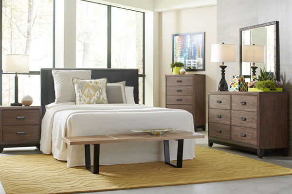 Rent the Mackenzie Nightstand & Dresser with Mirror Set