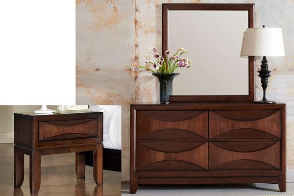 Rent the Madden Nightstand & Dresser with Mirror Set