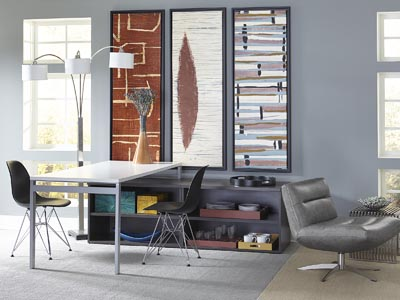 "Rent the STAKS 30"" White Desk with Bookshelf"