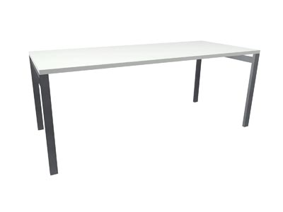 "Rent the STAKS 30"" Deep Desk, White"