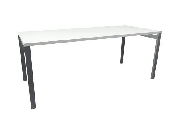 "Rent the STAKS 30"" Deep Desk, White"